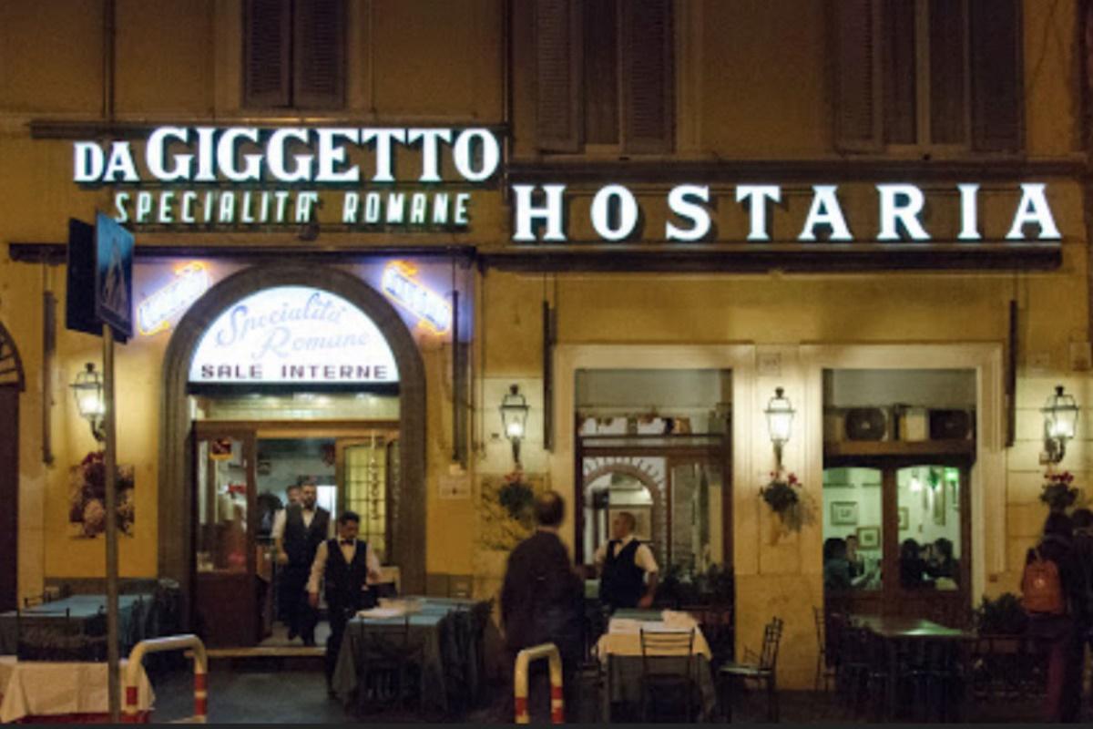 Trattoria Giggetto al Portico d'Ottavia è stata fondata nel 1923 e la sua fama si è estesa grazie al vino Frascati e ai suoi piatti speciali gustosi